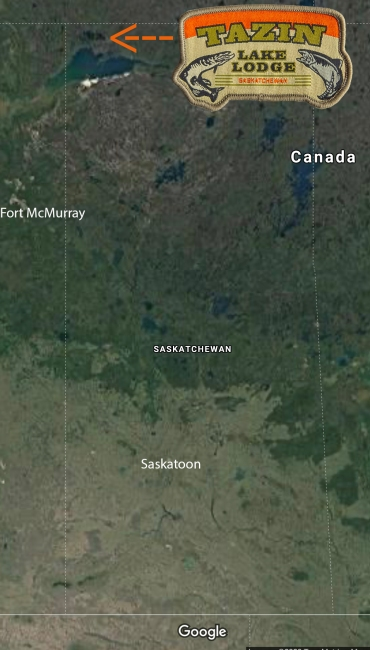sask tazin lake fort mac map
